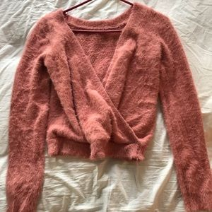 Urban Outfitters Sweaters - Urban Outfitters cropped fuzzy sweater